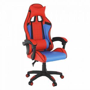 Scaun de birou / joc, albastru / roşu, SPIDEX