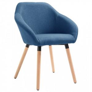 Scaun de sufragerie, albastru, material textil - V283453V