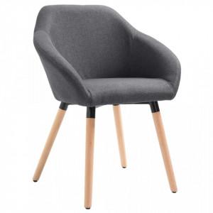 Scaun de sufragerie, gri inchis, material textil - V283450V