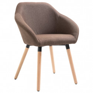 Scaun de sufragerie, maro, material textil - V283452V