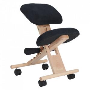 Scaun genunchi ergonomic, negru / fag, GROCO