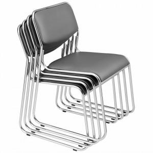Set Comfort 4 bucati scaun birou, conferinta,77 x 51 cm, piele sintetica, gri - P49801678