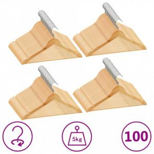 Set de umerase anti-alunecare, 100 buc., lemn esenta tare - V289913V
