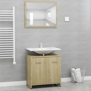 Set mobilier de baie, stejar Sonoma, PAL - V802582V