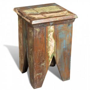 Taburet, lemn masiv reciclat - V240951V