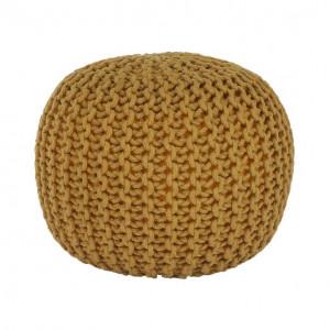Taburet tricotat, bumbac muştar, GOBI TYP 2