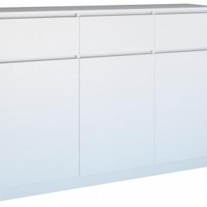 TECOA105 - Comoda 120 x 40 x 97 cm, Alb-Mat
