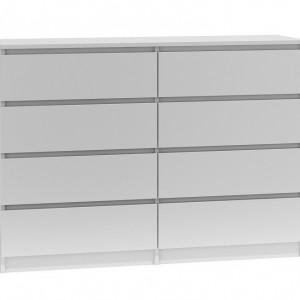TECOA124 - Comoda 138 x 40 x 97 cm, Alb-Mat