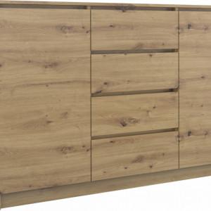 TECOAR115 - Comoda 140 x 40 x 97 cm, Stejar Artisan