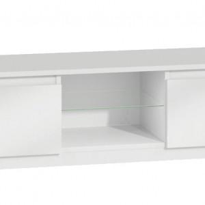 TECOTVA107 - Comoda TV 120 x 40 x 36 cm, Alb-Lucios