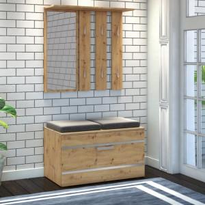 TECUIAR104 - Set Cuier hol 85 x 35 x 180 cm - Stejar Artisan
