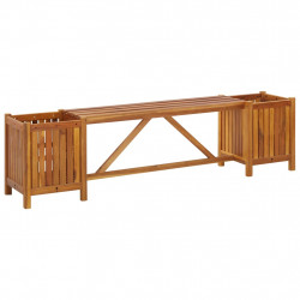 Banca de gradina cu 2 jardiniere, 150x30x40 cm, lemn de acacia - V46344V