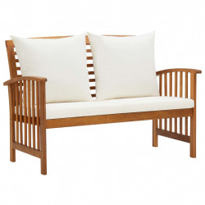 Banca de gradina cu perne, 119 cm, lemn masiv de acacia - V310260V