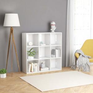 Biblioteca, alb extralucios, 98 x 30 x 98 cm, PAL - V801131V