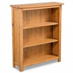 Biblioteca cu 3 rafturi, 70 x 22,5 x 82 cm, lemn masiv stejar - V244468V