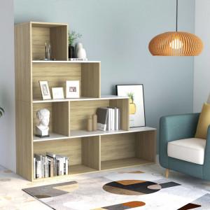 Biblioteca/Separator camera alb stejar Sonoma 155x24x160cm PAL - V800662V