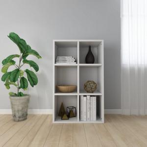 Biblioteca/Servanta, alb extralucios, 66 x 30 x 97,8 cm, PAL - V800348V