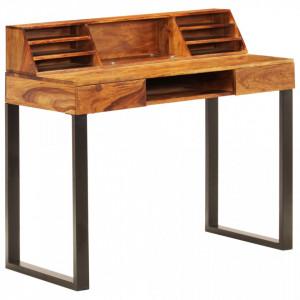 Birou, 110x50x94 cm, lemn masiv de sheesham si otel - V247964V
