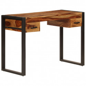 Birou cu 2 sertare, 110 x 50 x 77 cm, lemn masiv de sheesham - V247401V