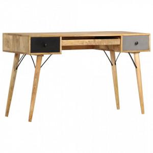 Birou cu sertare, 130 x 50 x 80 cm, lemn masiv de mango - V285823V