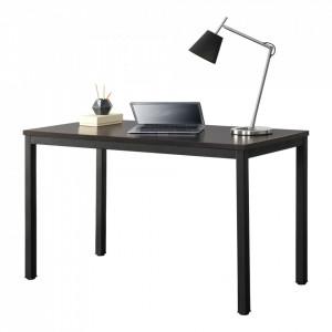 Birou Odense, 75 x 120 x 60 cm, otel/PAL melaminat, negru/culoarea nucului, inaltime reglabila - P65862408