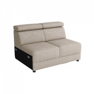 Canapea extensibilă 2 locuri 2 BB ZF, gri bej Taupe, BOBY