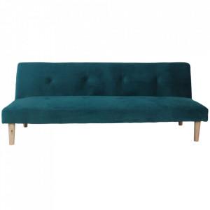 Canapea extensibilă, smarald/stejar, ALIDA