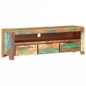 Comoda TV, 119 x 30 x 41 cm, lemn masiv reciclat - V320208V