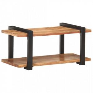Comoda TV, 90 x 40 x 40 cm, lemn masiv de acacia - V320495V
