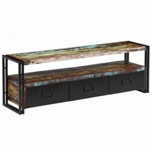 Comoda TV din lemn masiv reciclat 120 x 30 x 40 cm - V244844V