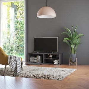Comoda TV, gri extralucios, 120 x 34 x 37 cm, PAL - V801160V