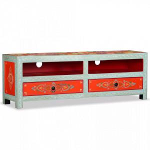 Comoda TV, lemn masiv de mango, pictata manual - V244595V