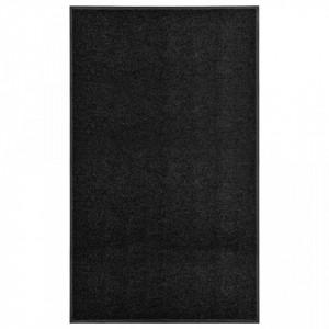 Covoras de usa lavabil, negru, 90 x 150 cm - V323413V