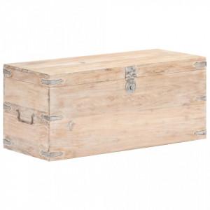 Cufar, 90 x 40 x 40 cm, lemn masiv de acacia - V289642V