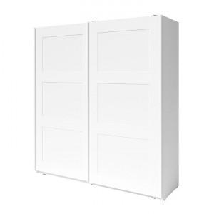 Dulap cu 2 uşi, alb, RAMIAK