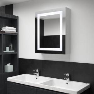 Dulap de baie cu oglinda si LED-uri, 50 x 13 x 70 cm - V285116V