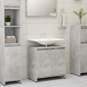 Dulap de baie, gri beton, 60 x 33 x 58 cm, PAL - V802646V