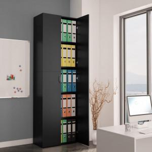 Dulap de birou, negru, 60x32x190 cm, PAL - V800298V
