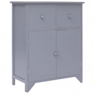 Dulap lateral, gri, 60 x 30 x 75 cm, lemn de paulownia - V284103V