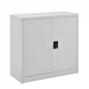 Dulap pentru birou Terni LG, 90 x 40 x 90 cm, otel, gri deschis, cu cilindru inchidere rotativa - P70504288