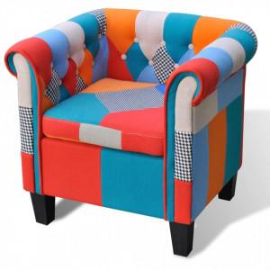 Fotoliu cu model Patchwork, material textil - V241027V