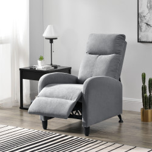 Fotoliu Relax Textil Gri deschis, 102 x 60 cm, poliester, gri deschis, cu spatar reglabil - P68050990