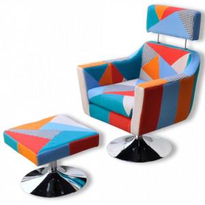 Fotoliu TV cu model mozaic, material textil - V241028V