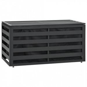 Lada de depozitare gradina, antracit, 100x50x50 cm, aluminiu - V49247V