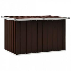 Lada de depozitare pentru gradina, maro, 109 x 67 x 65 cm - V46260V