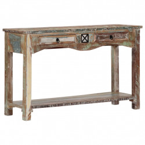 Masa consola, 120 x 40 x 75 cm, lemn masiv reciclat - V247925V