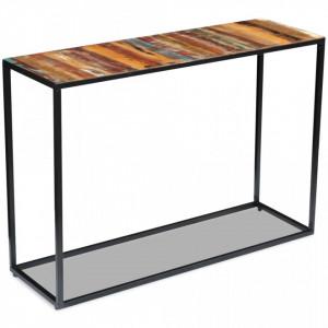 Masa consola, lemn reciclat de esenta tare, 110x35x76 cm - V243337V