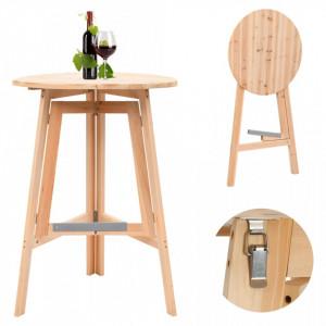 Masa de bar pliabila, 78 cm, lemn de brad - V45532V