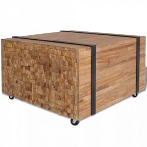 Masa laterala din lemn de tec, 60 x 60 x 38 cm - V244515V