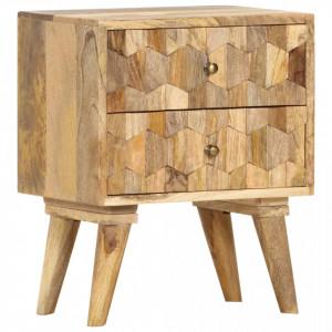 Noptiera, 40 x 30 x 50 cm, lemn masiv de mango - V286125V